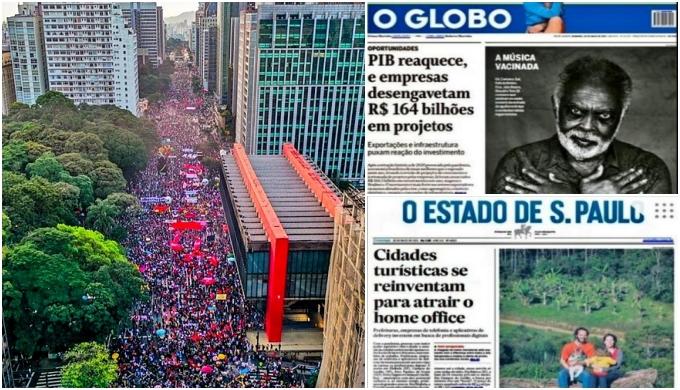 Silêncio de jornais sobre atos contra Bolsonaro mostra que elites não aprenderam nada