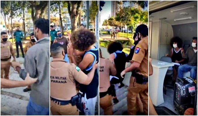 Vereador negro preso Curitiba enquanto jogava basquete