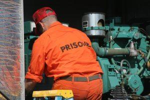 Prisoner at work
