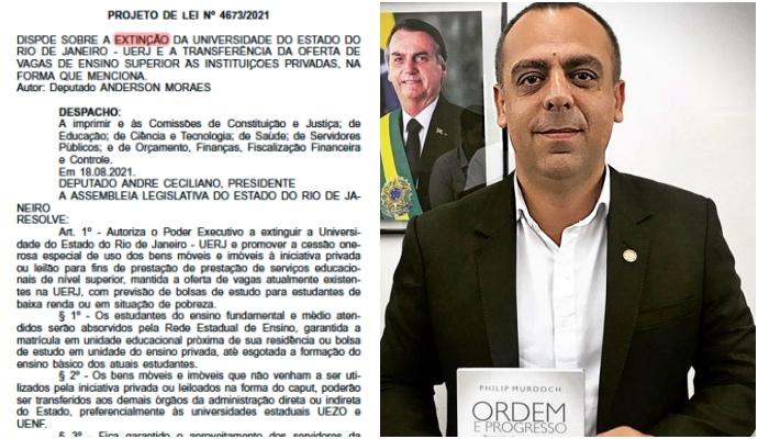 Deputado bolsonarista propõe vender UERJ dinheiro escolas particulares