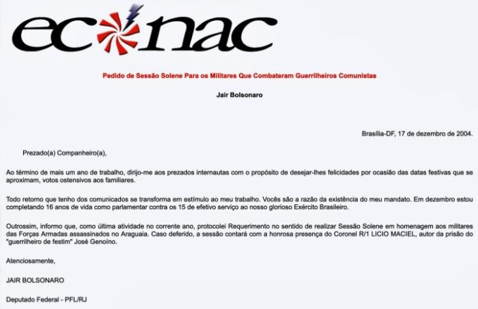 pesquisadora carta jair bolsonaro publicadas portais neonazistas