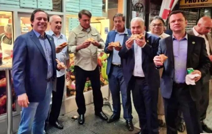Bolsonaro turma enxergam pizza nova york eua