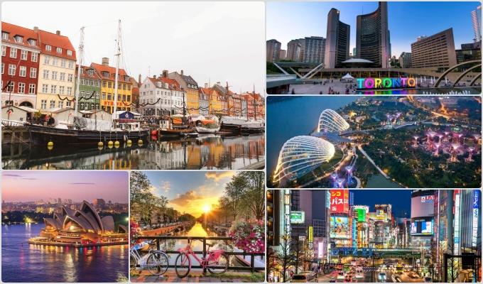 cidades mais seguras mundo Copenhague toronto