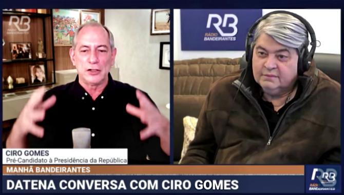 Ciro Gomes Datena criticam pesquisas eleitorais últimos levantamentos