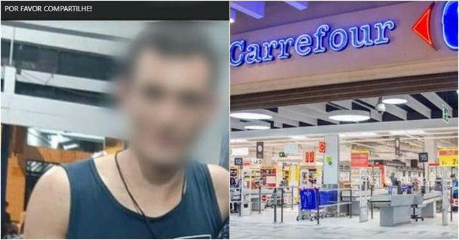 funcionário carrefour preso supermercado elevador