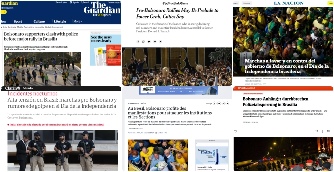 Imprensa internacional destaca desespero de Bolsonaro após setembro