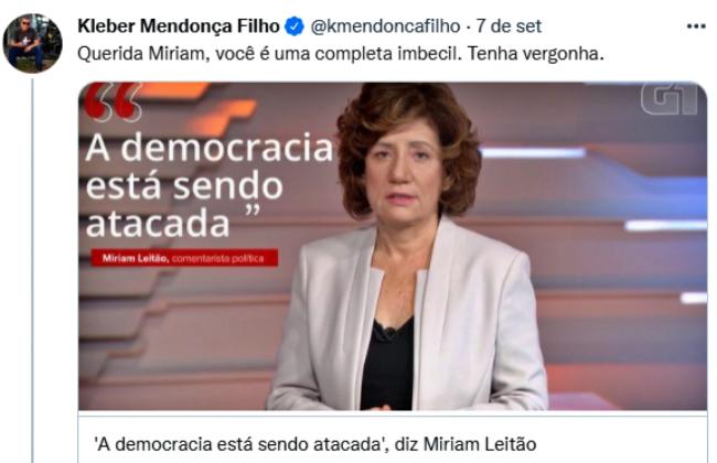 Míriam Leitão defendida ataque machista pessoas massacraram Dilma Rousseff posse