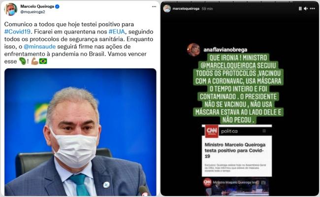 Nova York ministro da Saúde Bolsonaro testa positivo covid-19