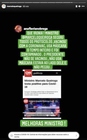 Nova York Marcelo Queiroga ministro da Saúde Bolsonaro testa positivo covid-19