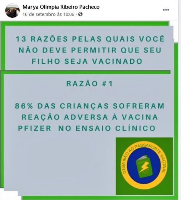 Promotora Marya Olímpia Ribeiro Pacheco publicou mensagens nazistas e antivacina investigada CNMP