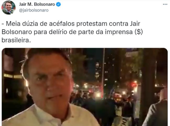 VÍDEO Bolsonaro reclama manifestantes NY