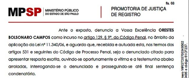 Orestes Sobrinho Bolsonaro réu tentativa feminicídio lesão corporal
